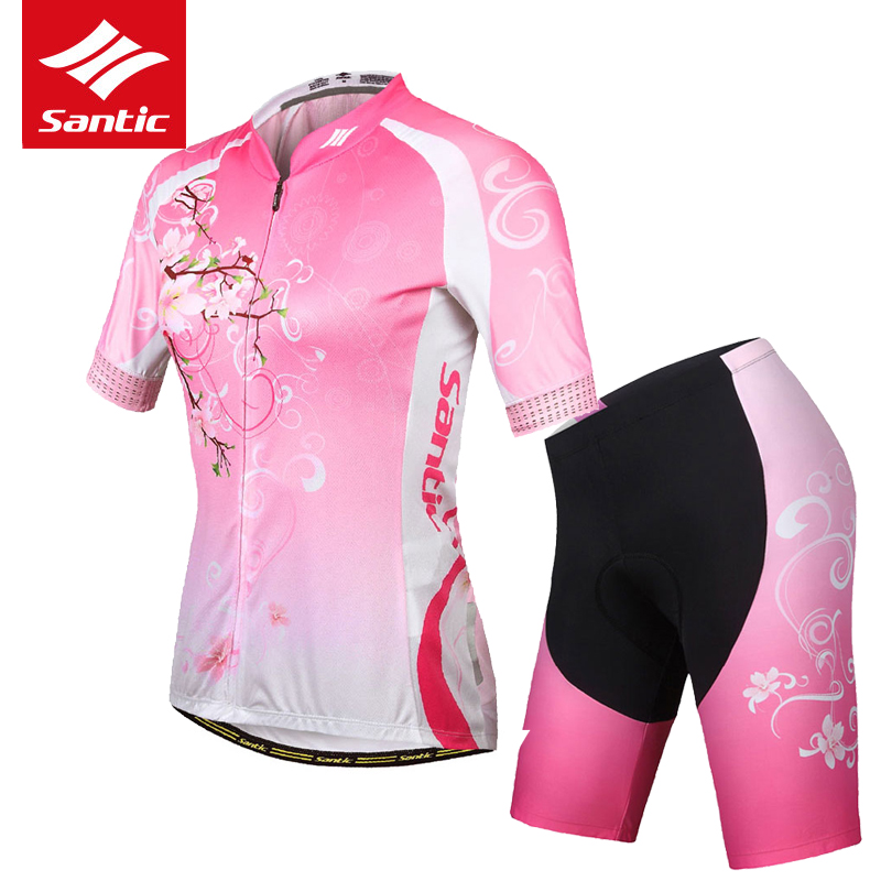 Santic Women Cycling Jersey Set Summer Short Sleeve MTB Road Bike Jersey Breathable Quality Bicycle Jersey Set Cycling Clothing free shipping women s cycling jerseys female bike jersey high quality summer bicycle racing clothing short sleeve sports wear