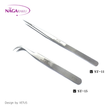 2pcs one Set  ST-11&ST-15 Eyelash Tweezers for Eyelash Extension Tools Genuine VETUS Tweezers