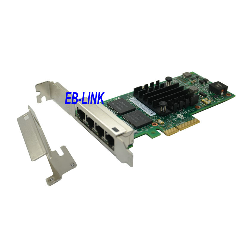<font><b>Intel</b></font> Chipset <font><b>I350</b></font>-<font><b>T4</b></font> Quad Four RJ45 Gigabit Ports Server Adapter PCI-E Card image