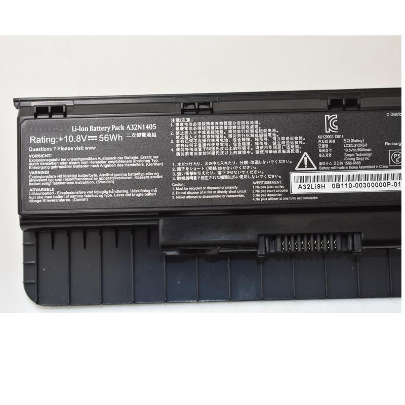 HSW Nueva batería para portátil A32N1405 10.8V 56WH Para Asus - Accesorios para laptop - foto 3