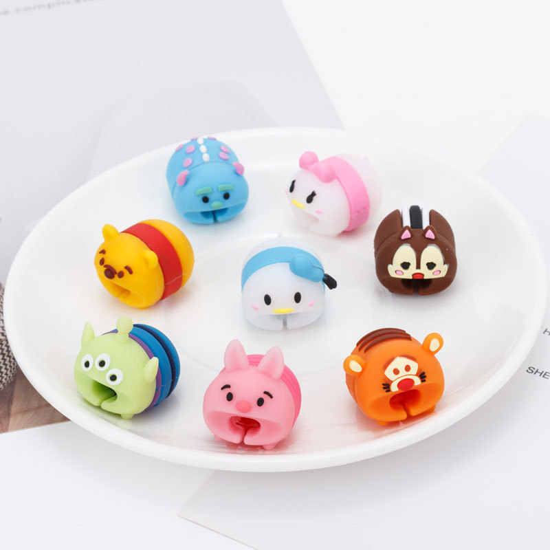 8 Style Cartoon Cable Bite Protection Cute Animal Cable Protector Mini Iphone Accessory Line Winder Protect Data Lines Protects
