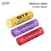 1PC 3.7V 9800mah 18650 Battery Li-ion Rechargeable Battery LED Flashlight Torch Emergency Lighting Portable Devices Tools стоимость