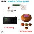 Ce de serviço de chamada de campainha encomendar o serviço de garçom pager sistema de chamada sem fio 433 mhz sistema