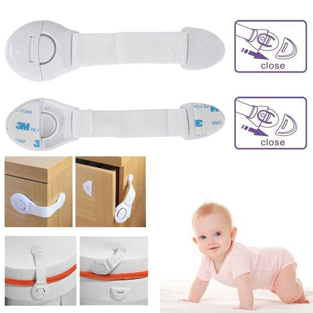 5pcs/set Baby Drawer Lock Children Security Protection For Cabinet Toddler Child Safety Lock Refrigerator Window Closet Wardrobe