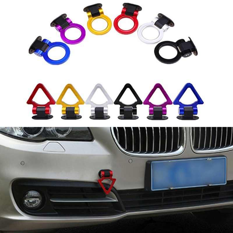 Universal Car Styling Decoration Trailer Hooks Sticker Car Auto Rear Front Trailer Simulation Racing Ring Vehicle Towing Hook