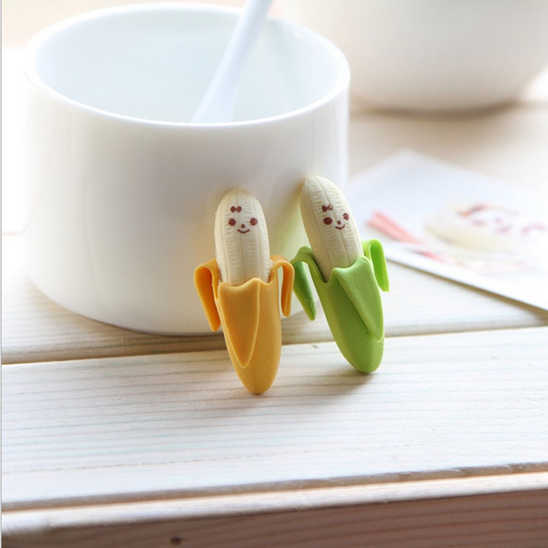 Купить с кэшбэком 2pcs/lot  Cute banana eraser kawaii school supplies papelaria child Learning stationery Materiale Scolastico Free shipping
