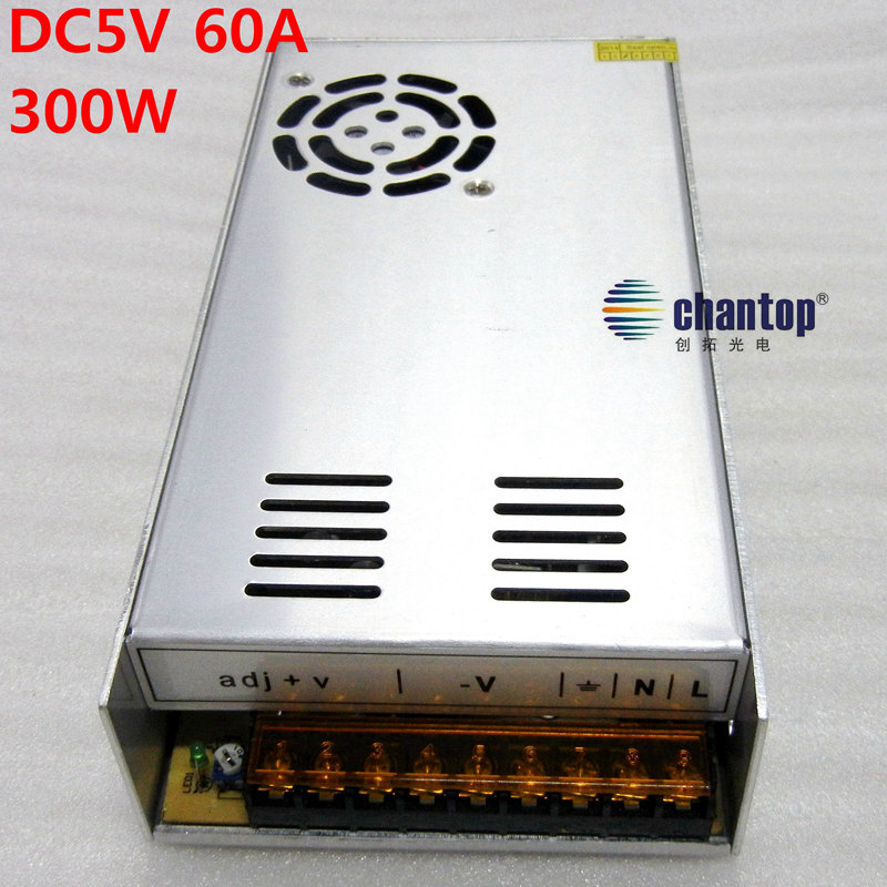 Free ship 5V 60A 300W LED display Switching Power Supply Driver AC 100-240V Input to DC 5V  LED Strip adapter 6007rs 35mm x 62mm x 14mm deep groove single row sealed rolling bearing