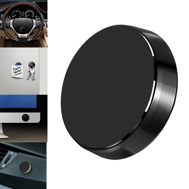 Universal Car Phone Magnetic Holder Mobile Smartphone Stand Air Vent Mount Dashboard In Car Desk Wall Sticker With Metal Plate