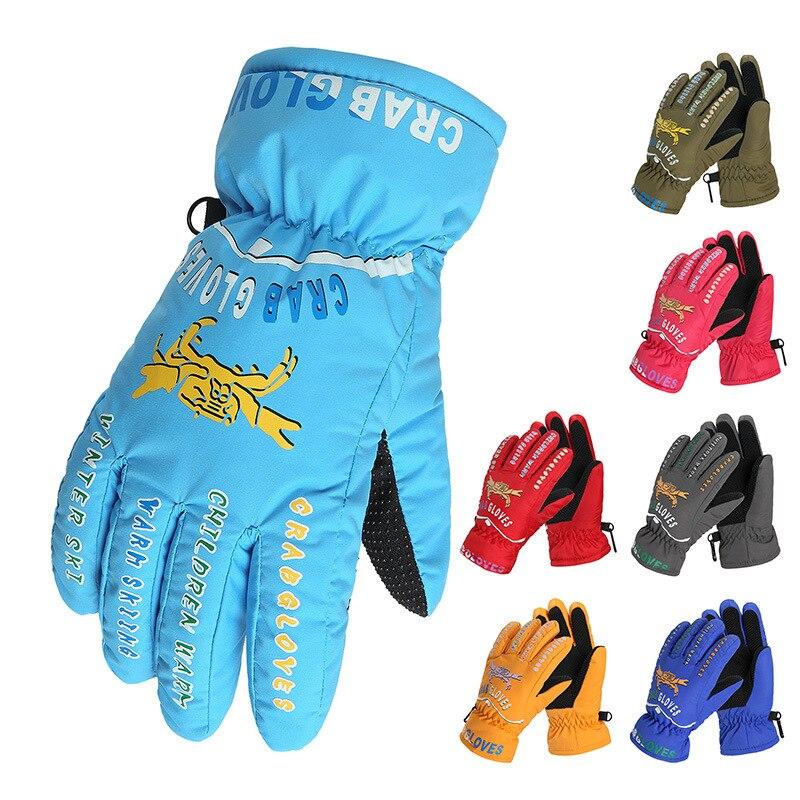 Winter Boys Girls Skiing Gloves Thick Super Warm Windproof kids Snow Ski Gloves Snowboard Cycling Outdoor Sport Gloves Children