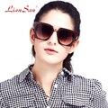 2017 liansan óculos polarizados armação de plástico óculos de sol da forma das mulheres do vintage de luxo da marca dos homens do desenhador óculos lsp508