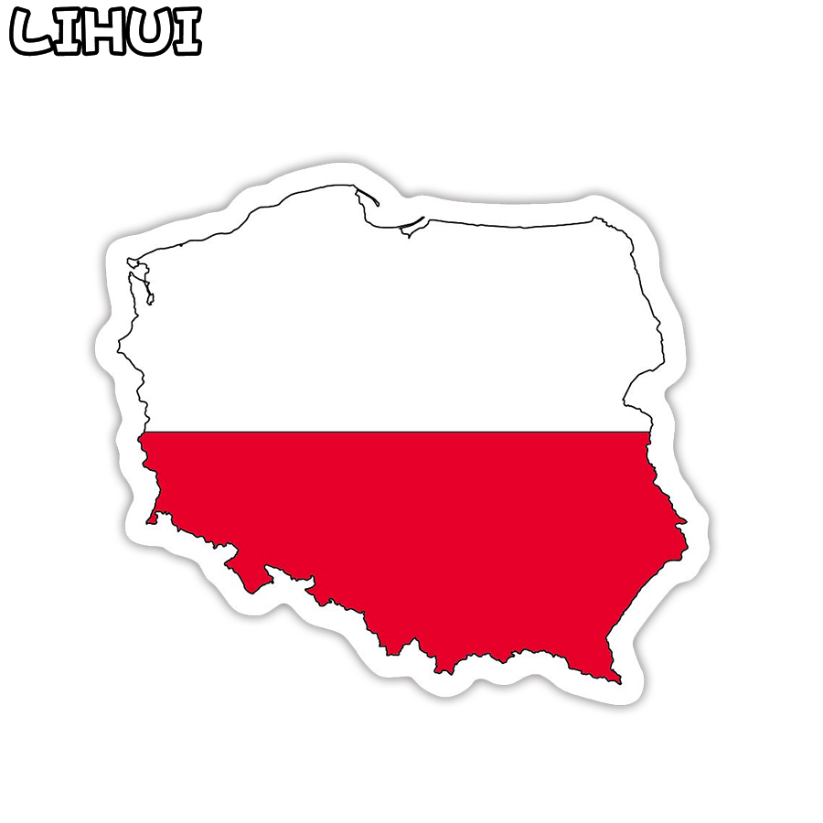 1 PCS Poland Flag Sticker Toys For Children Countries Map Travel Stickers To DIY Scrapbooking Suitcase Luggage Laptop Car Motor