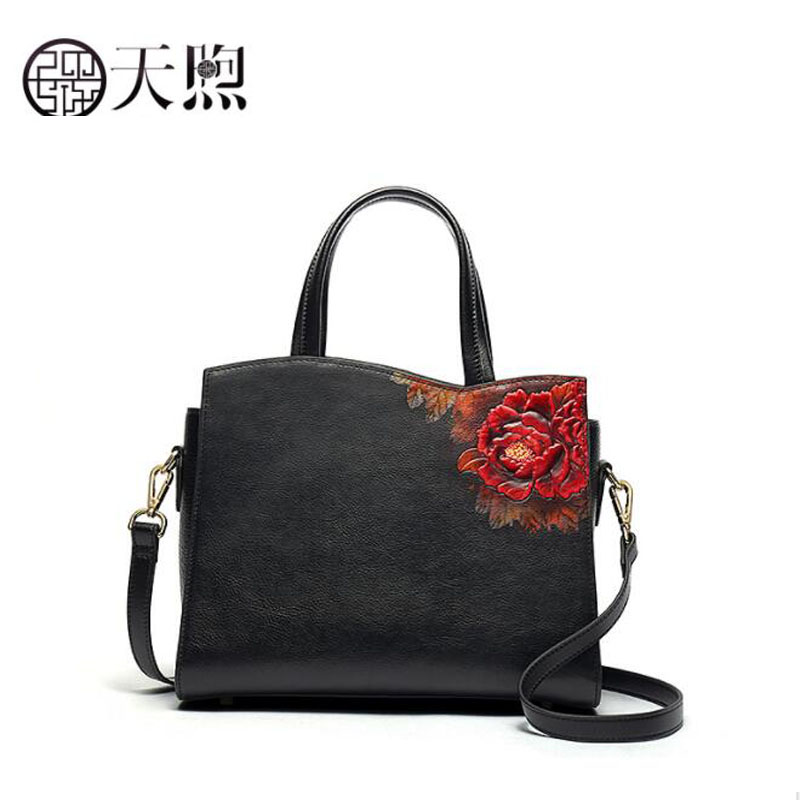 2019 New Superior cowhide luxury real leather embossed bags designer women genuine leather bag tote women handbags shoulder bag