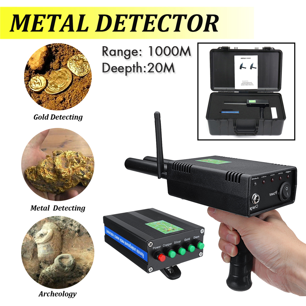 Long Range Handheld Metal Detector With Battery AKS Metal Detector for Outdoor Adventure gold silver copper diamond Detector aks long range copper silver gold and diam detector charger