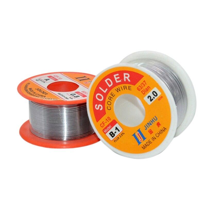 0.3/0.4/0.5/0.6/0.8/1.0mm Solder Wire Diameter 60/40 63/37 Rosin Core Welding Tin Lead Solder Home Wire Reel Soldering Tools