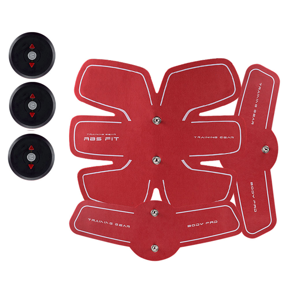 EMS Wireless Smart Abdominal Muscle Stimulator Electric Weight Loss Massager Sports Trainer Rechargable Body Slim Belt Unisex