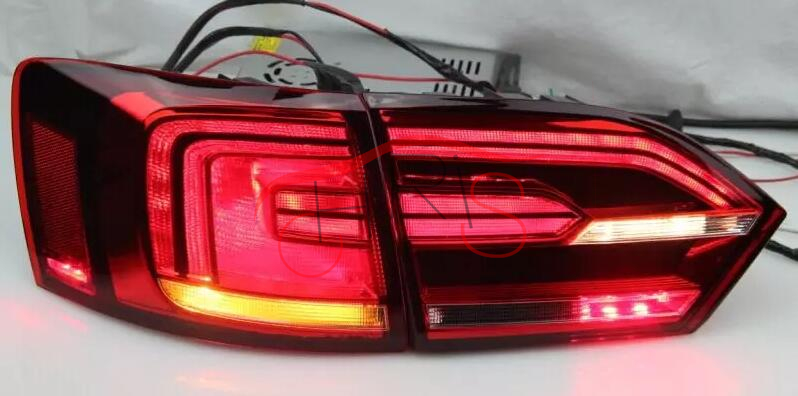 Red Color LED Tail Light For VOLKSWAGEN Jetta MK6 Sagitar 2011-2014 Rear Light replacement led headlamps v2 style for volkswagen jetta mk6 2011 2012 2013 2014