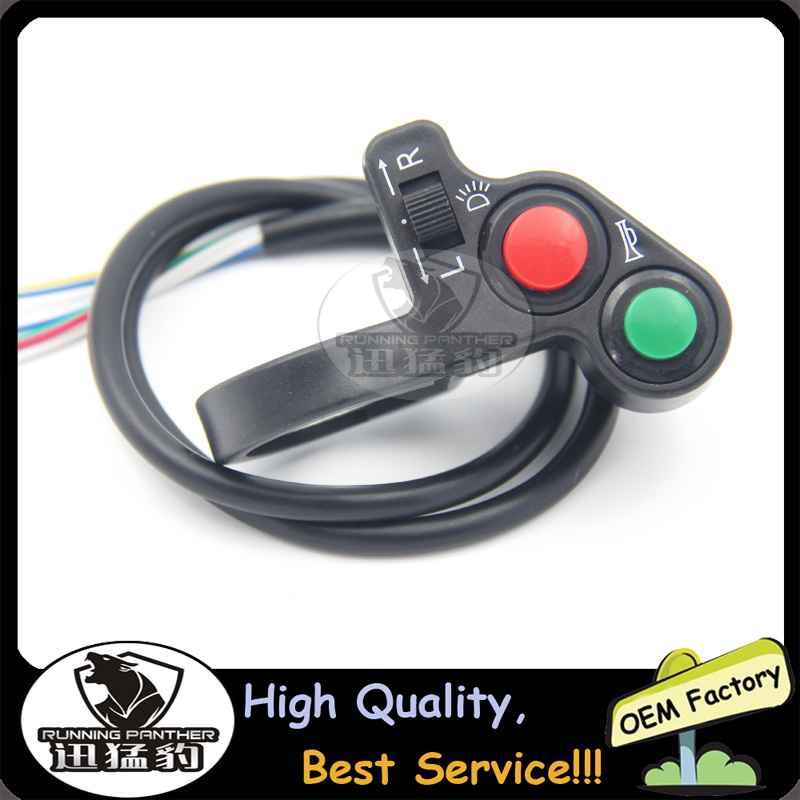 Motorcycle Horn Turn Signal Light Switch 3 In 1 Button Handlebar Bike Scooter