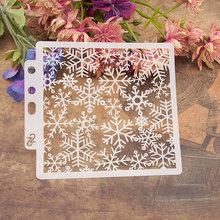 Many Snowflake Sticker Painting Stencils for Diy Scrapbooking Stamps Home Decor Paper Card Template Decoration Album Crafts Art merry christmas tree sticker painting stencils for diy scrapbooking stamps home decor paper card template decoration album craft