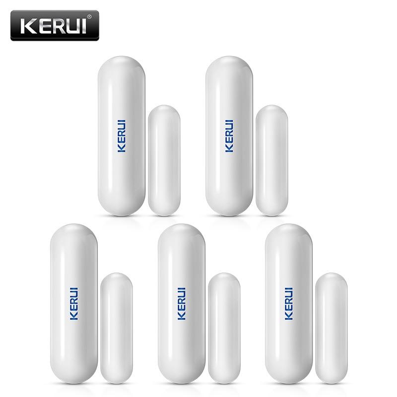 5Pcs/Lot KERUI D026 Wireless Window Door Magnet Sensor Detector For KERUI Home Burglar Security Alarm System