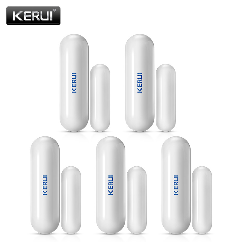 5Pcs/Lot KERUI D026 Wireless Window Door Magnet Sensor Detector For KERUI Home Burglar Security Alarm System