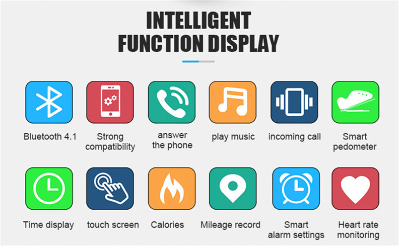 Y3 Color Bluetooth Headset Talk Smart Band Bracelet Heart Rate Monitor Sports Smart Watch Passometer Fitness Tracker Wristband 3