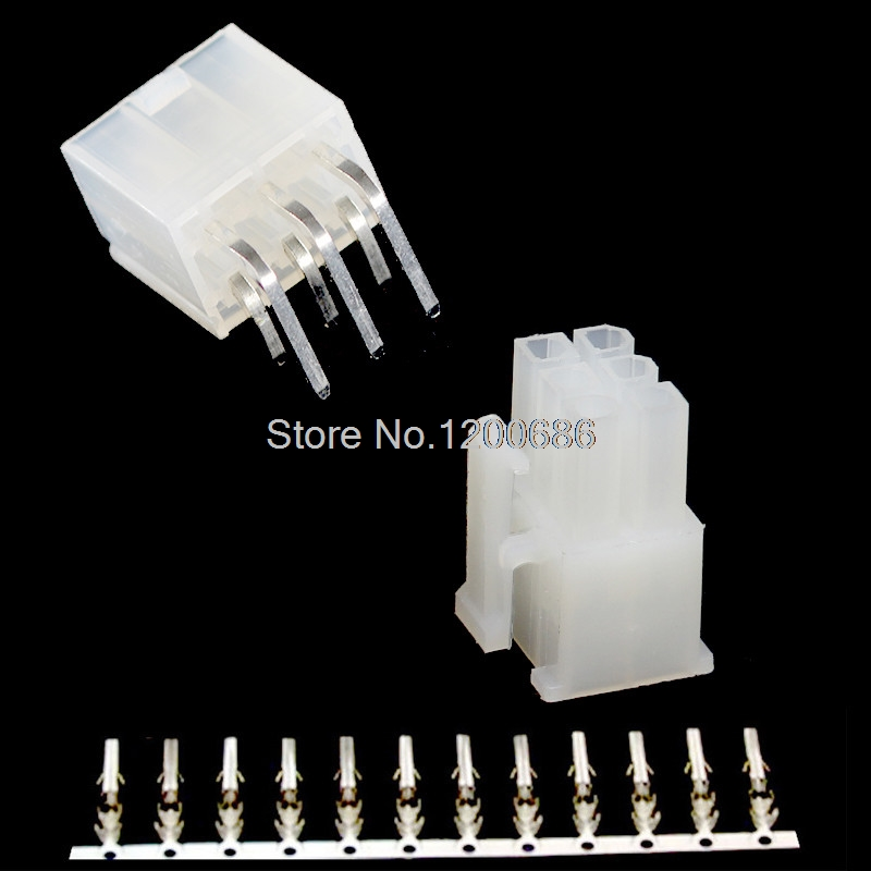 2*3PIN 6PIN Kit Pitch 4.2MM Curved Solid Needle 90 degree 5557 Double Row connector