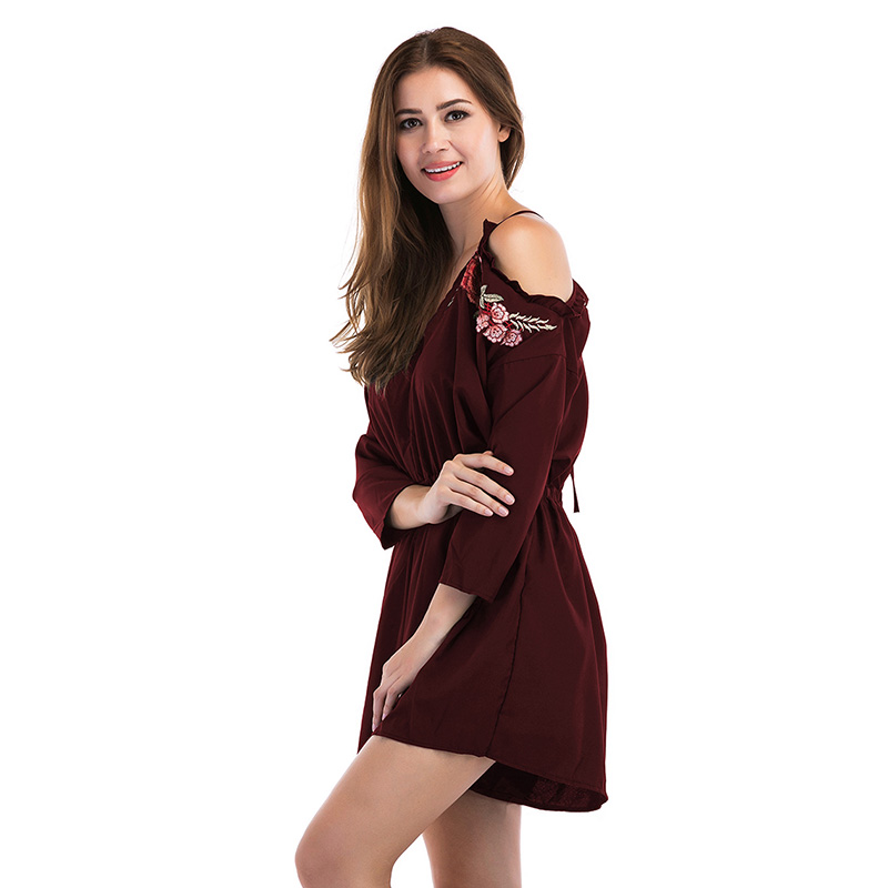 6e4aeade68a3 bonnie thea Cotton Playsuits Embroidery loose Playsuits black red short  Jumpsuits for Women 2018 Casual Beach sexy woman clothes-in Rompers from  Women s ...