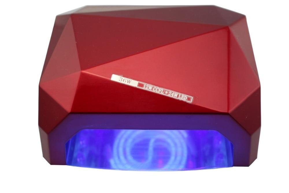ФОТО 36W UV Lamp LED Ultraviolet Lamp  Nail Dryer Nail Lamp Diamond Shaped CCFL Curing for Gel Nails Polish Nail Art Tools TP20