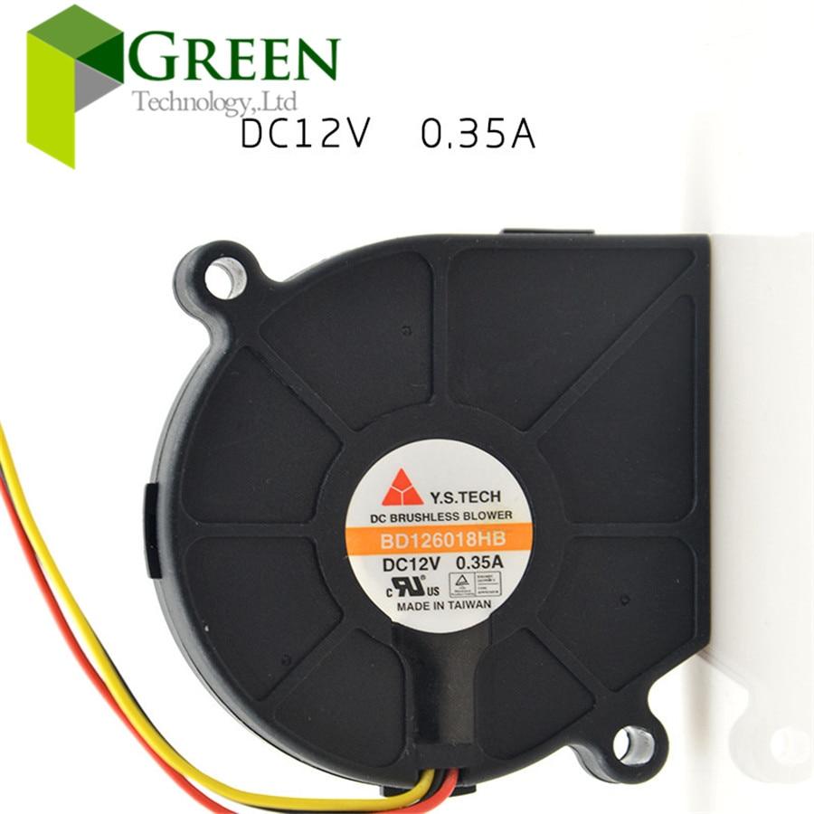 DHL free shipping The Original Y S TECH BD126018HB 6018 60x60x18mm 12V 0 35A Blower Fan