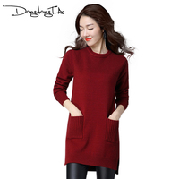 Dongdongta Thickening Warm Knitting Sweaters Pullovers For Women Spring Autumn Winter Casual Slim Elastic Turtleneck Knitwear