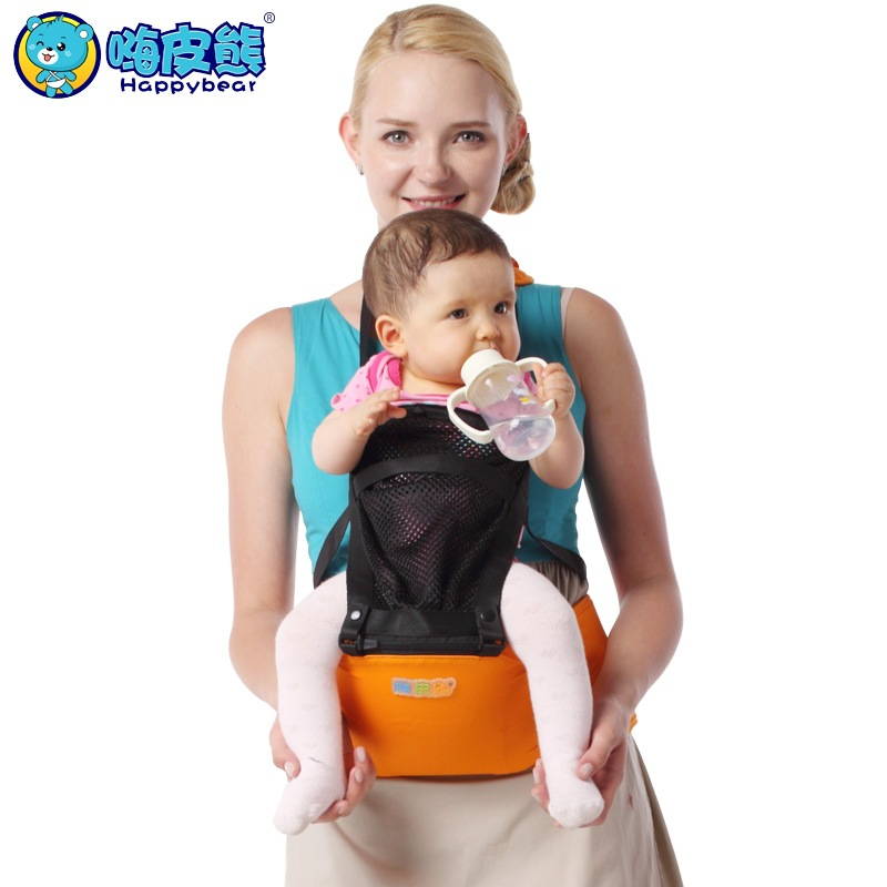 Ultra-thin Ultra-breathable Backpacks Carriers Portable Baby Lumbar Stool Baby Stool Scientific Design to Ease the Load happy bear multifunctional baby sling lumbar bended baby lumbar stool horizontal hold four seasons breathable and lightweight