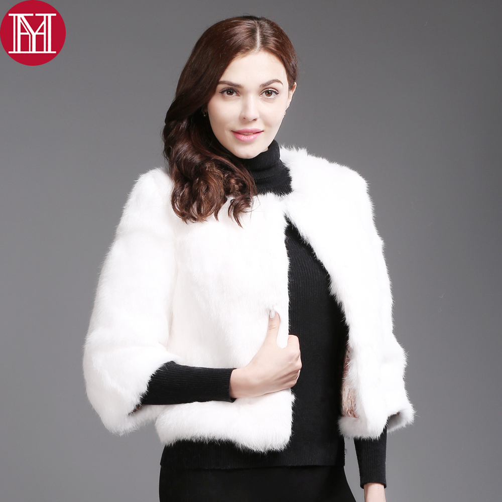 2018 Hot Sale Real Natural Rabbit Fur Short Coat Women Fashion Brand Real Rabbit Fur Jacket