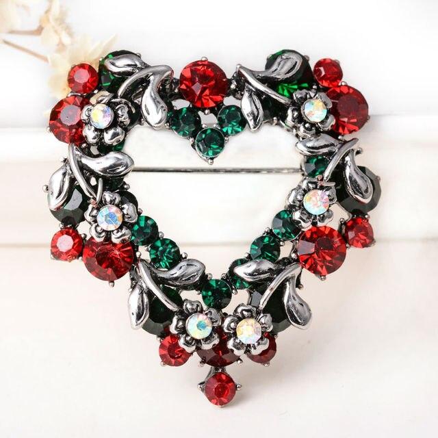 Фото модные рождественские подарки заколки и броши для женщин маленькие цена