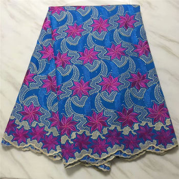 African lace fabric High quality eyelet lace Latest guipure lace fabric with stones  GL1021