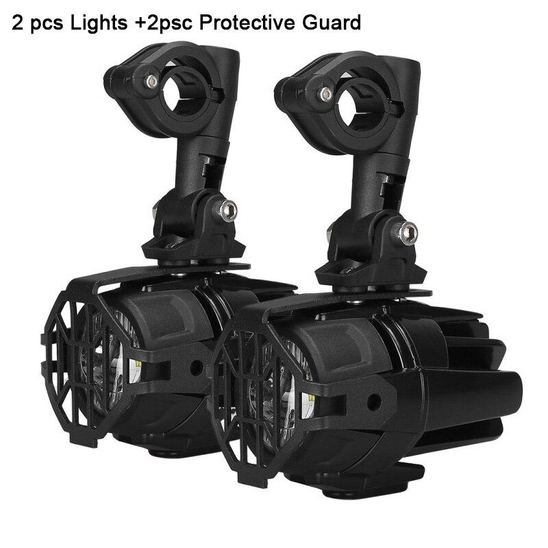 FADUIES moto LED antibrouillard & protection gardes avec faisceau de câblage pour BMW R1200 GS/ADV moto LED lumières blanc 6000 k - 3