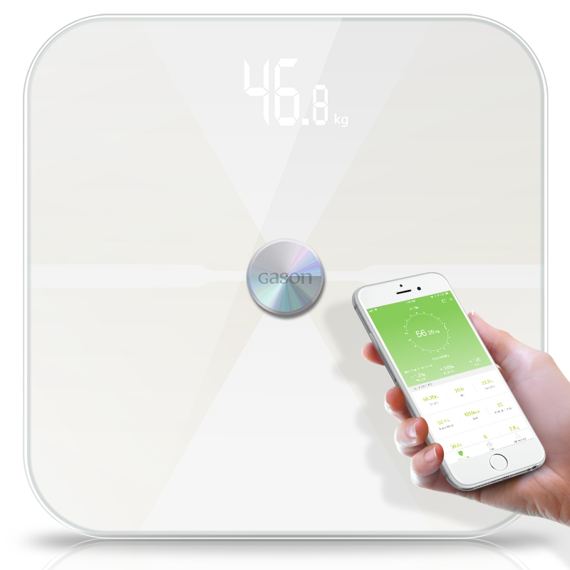 Image 2 - GASON T6 Body Fat Scale Floor Scientific Electronic LED Digital Weight Bathroom Household Balance Bluetooth APP Android or IOS-in Bathroom Scales from Home & Garden
