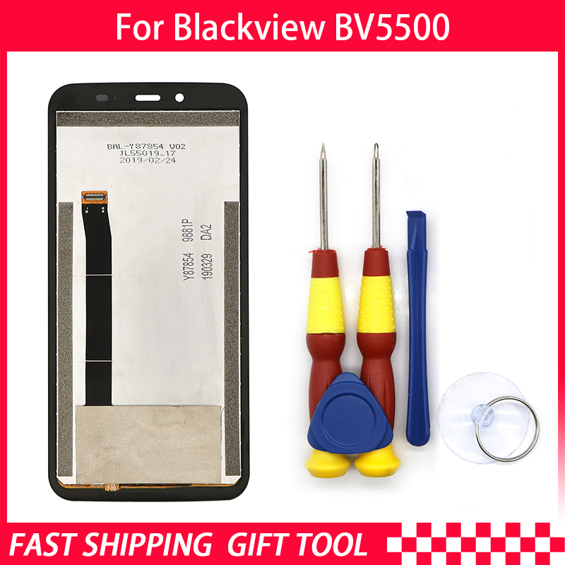 New original Touch Screen LCD Display LCD Screen For Blackview BV5500 Replacement Parts + Disassemble Tool+3M AdhesiveNew original Touch Screen LCD Display LCD Screen For Blackview BV5500 Replacement Parts + Disassemble Tool+3M Adhesive