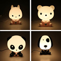 Novelty PVC Plastic Night Light Baby Bedroom Lamps Night Light Cartoon Rabbit Panda Dog Sleep Kids Lamp Nightlight for Children