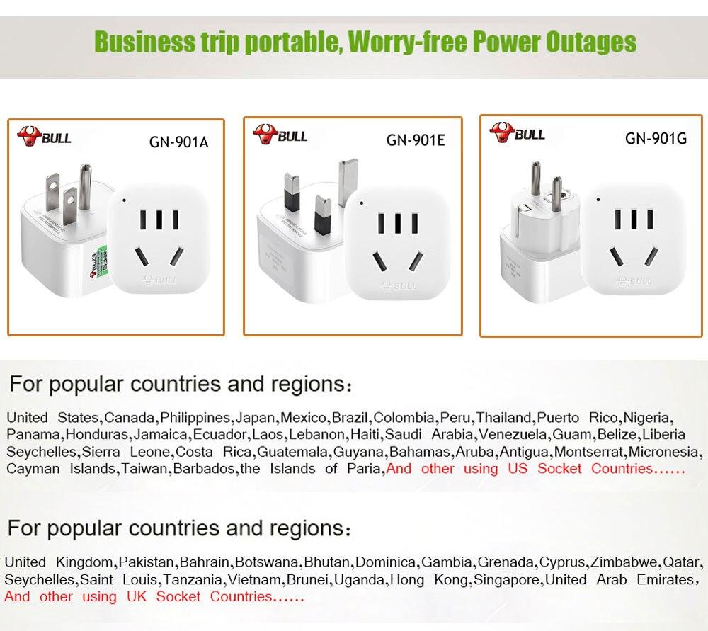 Bull Gn901x International Universal Us Au To Eu Euro Europe Power Socket Wiring Diagram Uk America Ac Plug Travel Charger Adapter Converter