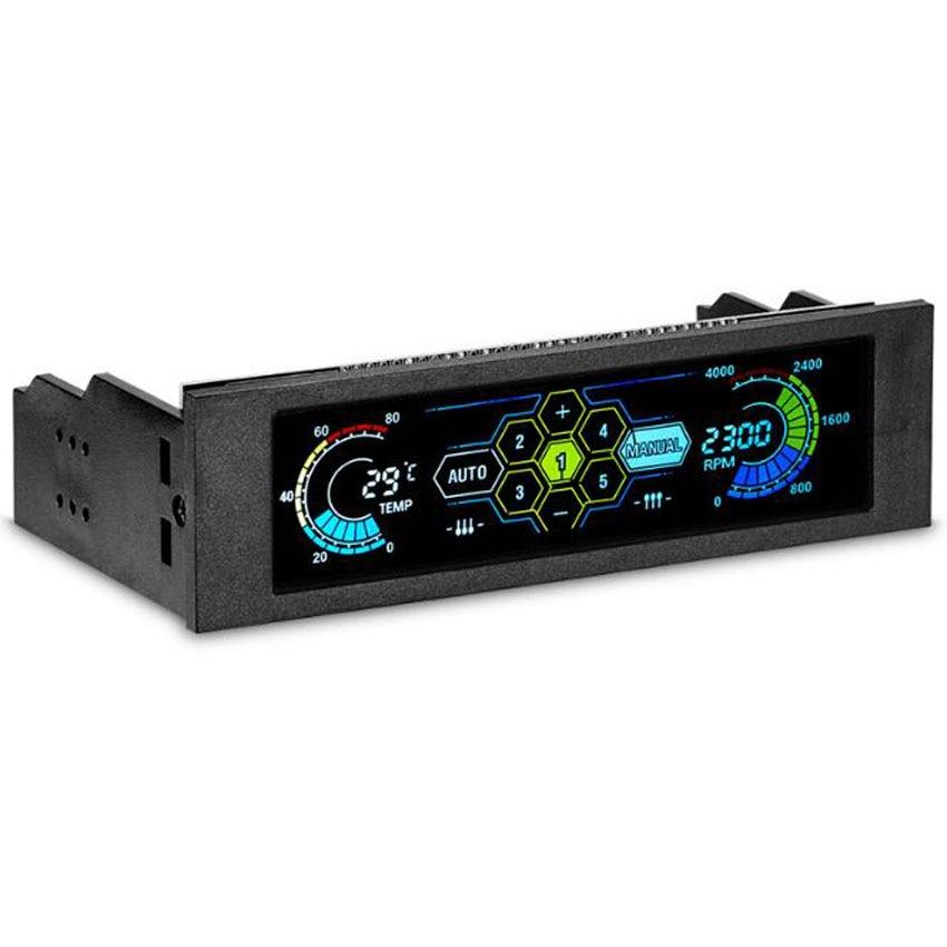 STW5036 datora korpusa ventilatora ātruma regulatora automātiskā temperatūras kontrole 5gab. Ventilatora piedziņas bit CPU ventilatora ātruma regulators