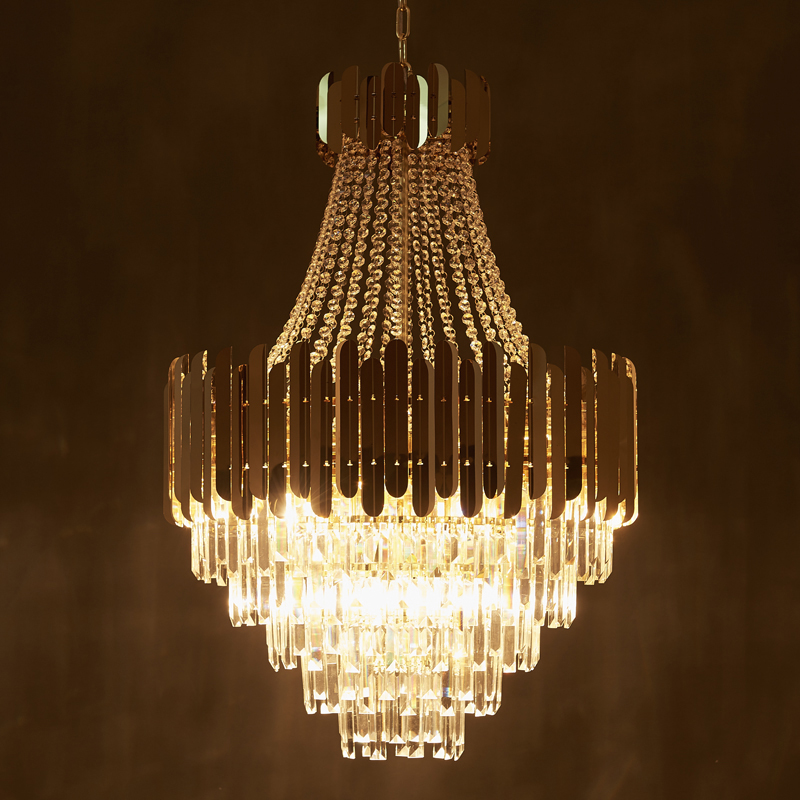 Gold Modern Crystal Chandelier Living Dining Room LED Hanging Lighting 3