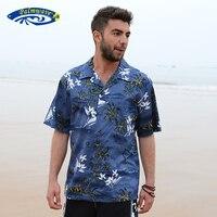 2016 جديد الصيف الرجال هاواي شاطئ قميص الرجال لنا حجم ألوها القطن فضفاض عارضة قصيرة الأكمام فضفاضة قميص a853