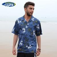 2016 Brand New Summer Men S Hawaiian Beach Shirt Men US Size Short Sleeve Loose Cotton