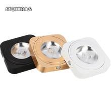 цена на Hight Light LED COB 5W/7W Ultra-thin Mini Square Ceilling Lamp Ambry Lamp, AC110V / 220 v, Black/White/Gold Shell,Free shipping.