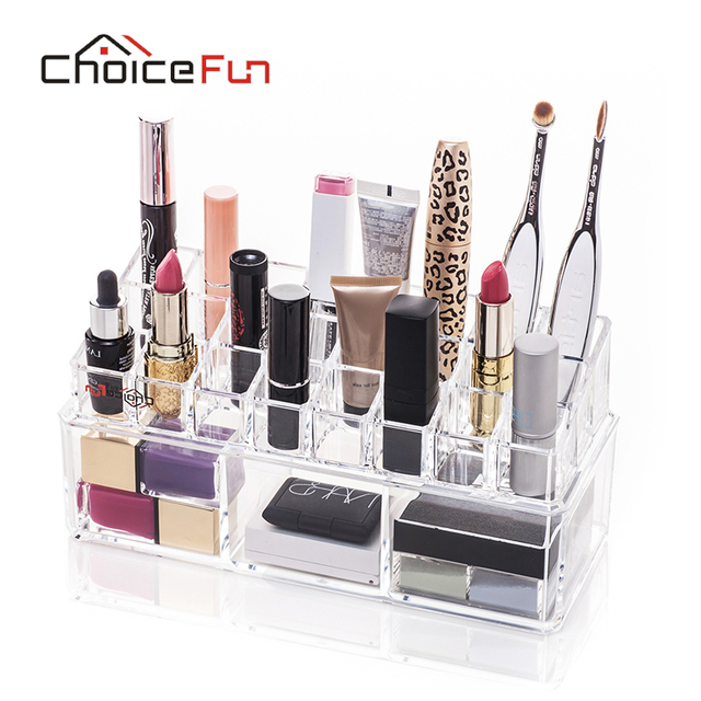 choice fun new style bathroom makeup organizer cosmetic container lipstick holder makeup brush holder organizer sf - Bathroom Makeup Organizers