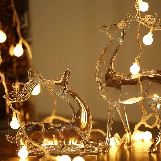 Us 625 15 M 10 żarówek Led Na Baterie Ball Struny Luminaria Dekoracje Oświetlenie Lampy święta Bożego Narodzenia Kryty Domu Lampki Nocne W 15 M