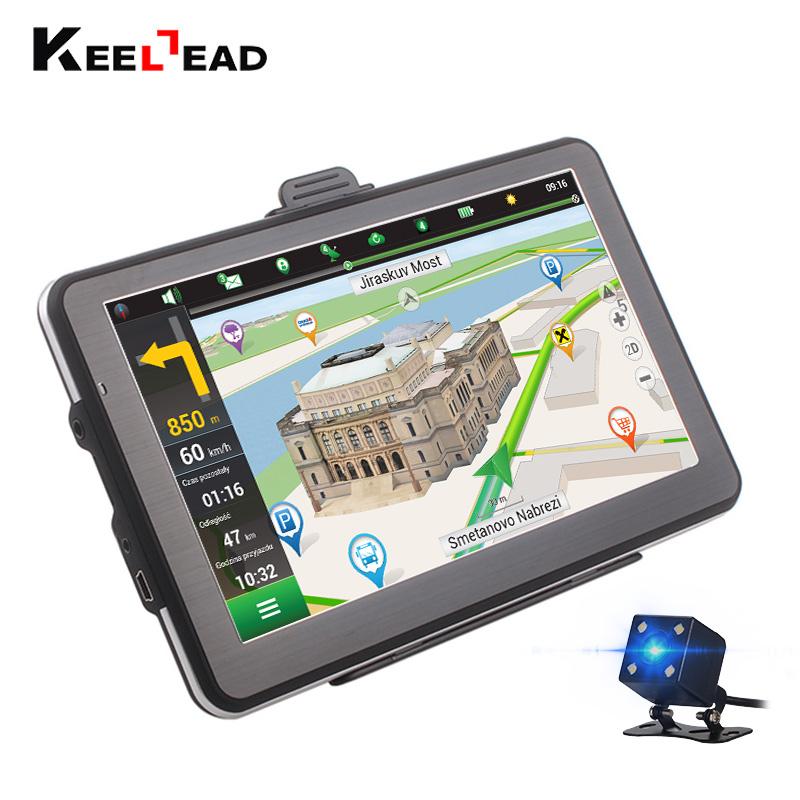 "Prix pour Keelead 7 ""écran HD Voiture GPS Navigation 800 Mhz CPU 128 MB/256 MB RAM 4 GB/8 GB ROM NAV + (Bluetooth/AV-IN/rearvie caméra) en option"