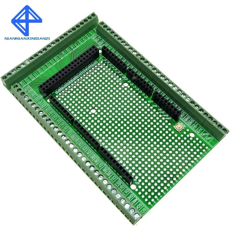 Double-side PCB Prototype Screw Terminal Block Shield Board Kit For MEGA-2560 Mega 2560 R3 Mega2560 R3