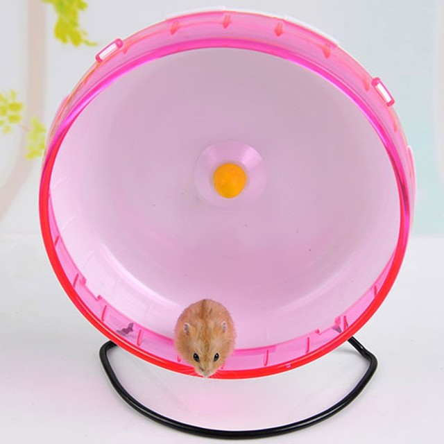 21 CM big Silent hamster Chinchilla running Exercise wheel rack hamster guinea pig sports balls toys hamster accessories