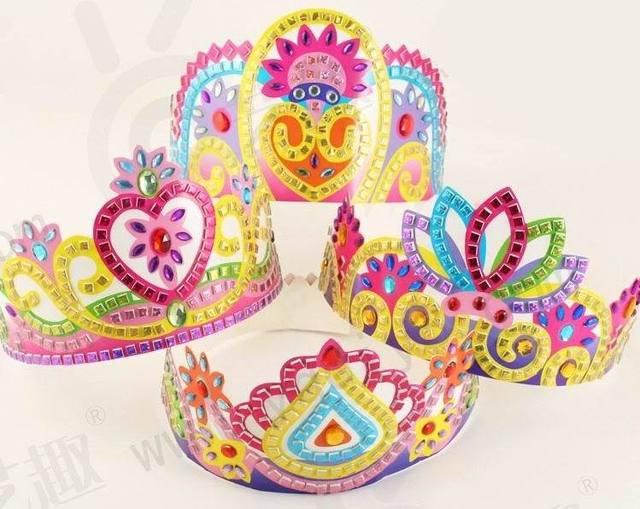 Buy 4pcs diy handmade girls crown kid 39 s for Art and craft crown